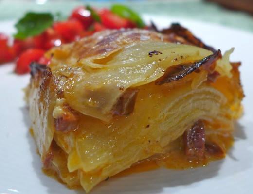 """Potet- og chorizo-""""lasagne"""""""