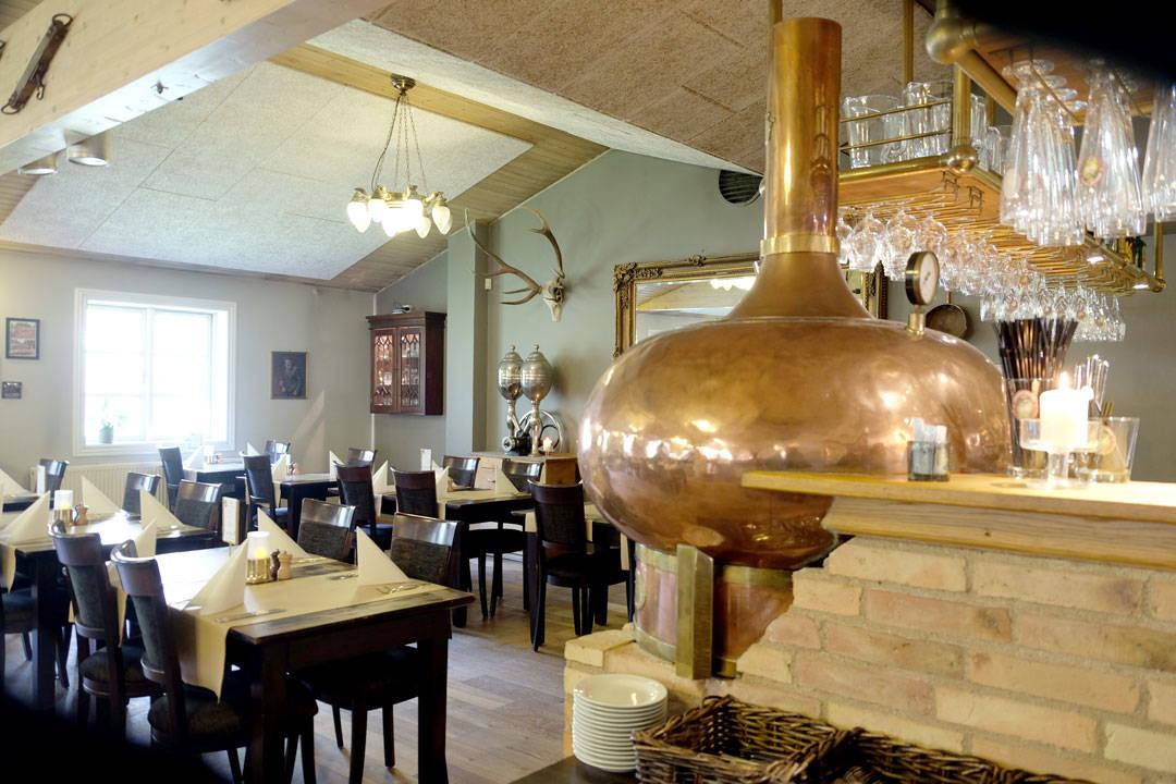 Restaurantdelen av bryggeriet.