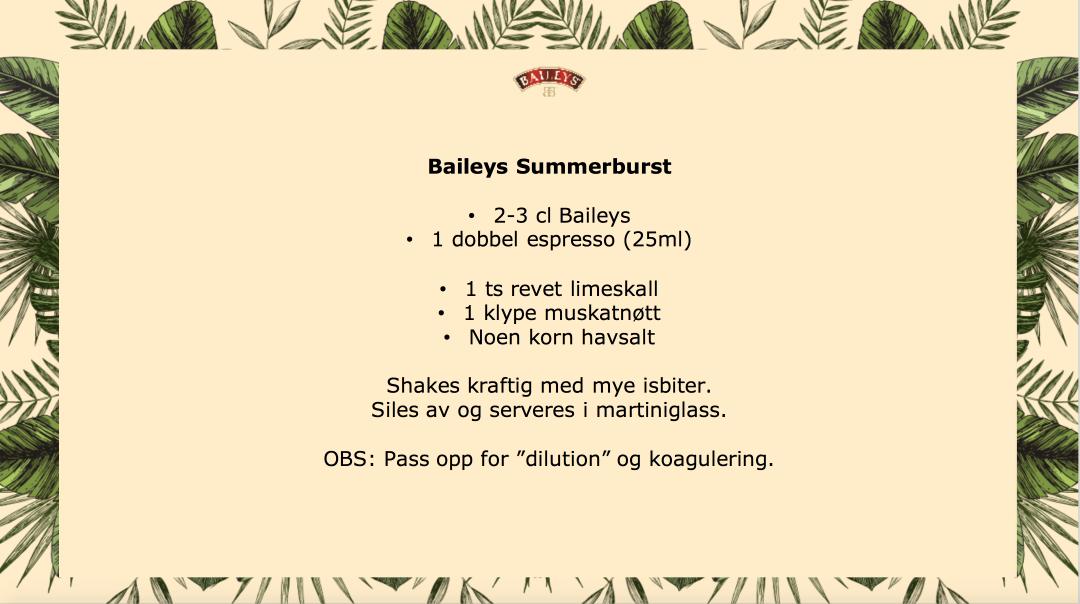 Baileys Summerburst