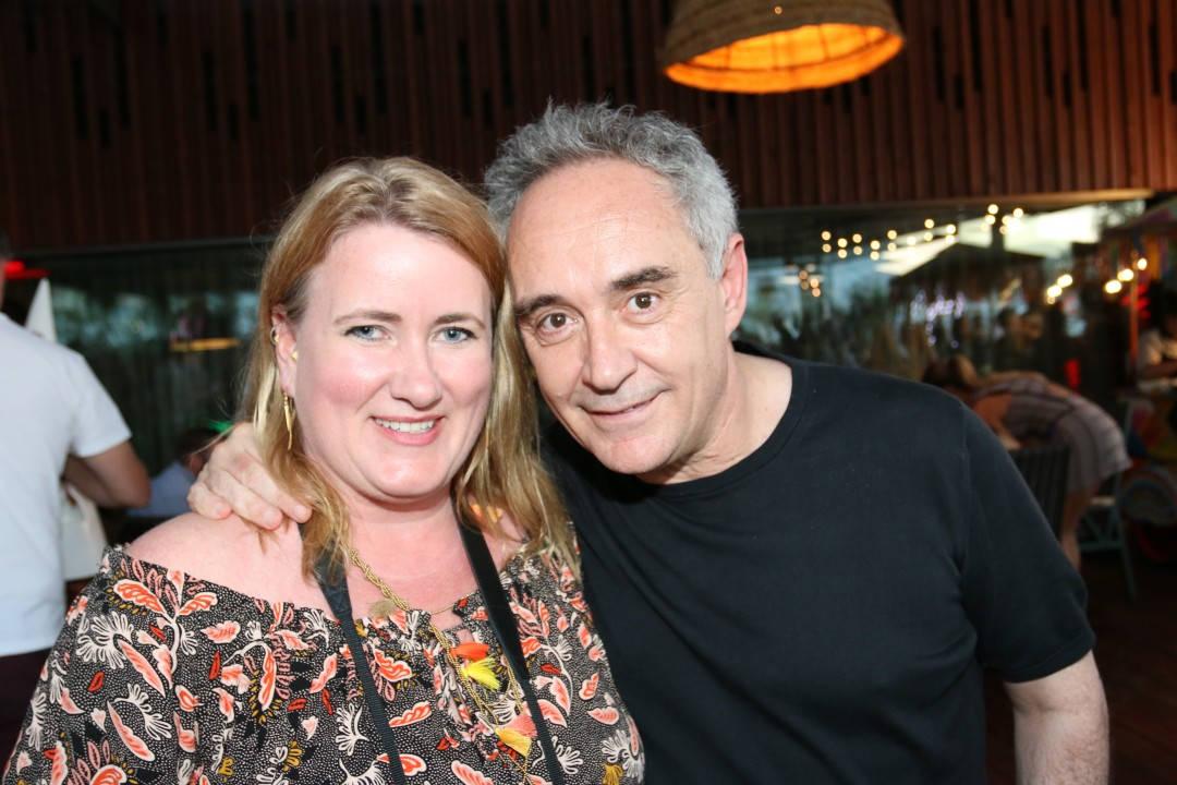 Meg og Ferran Adrià på Ibiza.