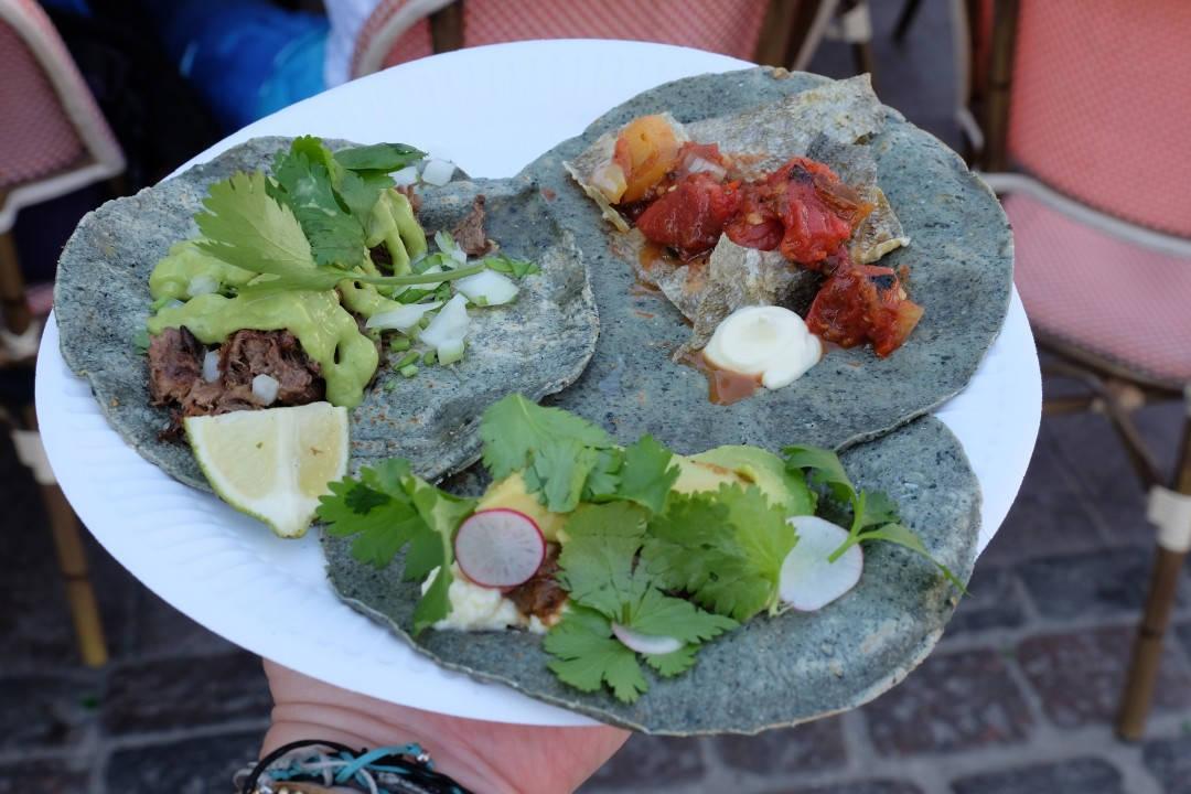 Tre fantastiske tacos hos Hija de Sanchez.
