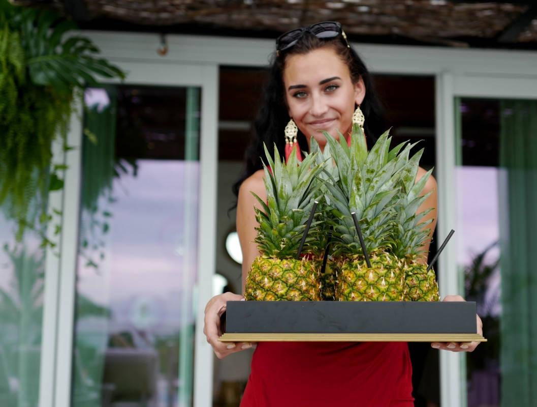Endelig fikk jeg en ananasdrink!