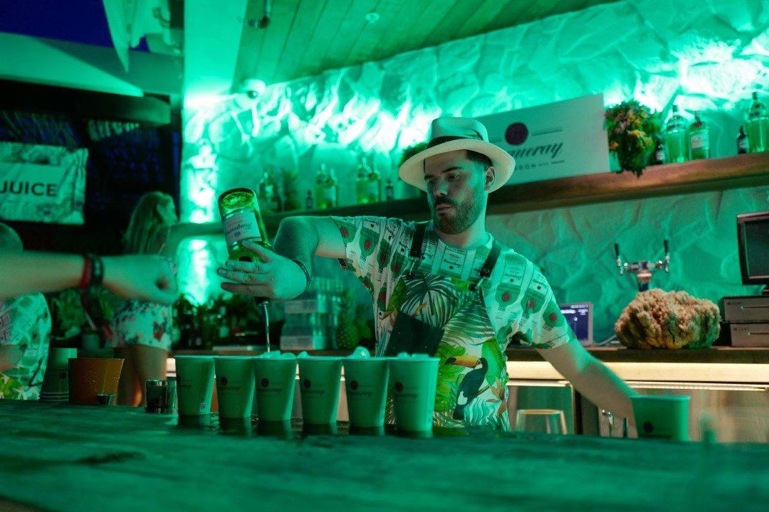 Jack Sotti fra Australia havnet blant Top 6 i Cape Town i fjor. I år var han i Miami og mikset drinker for oss.