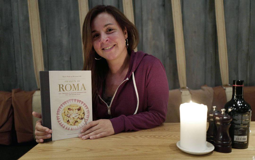 """Katie Parlas bok Smaken av Roma"""" er nå i salg."""