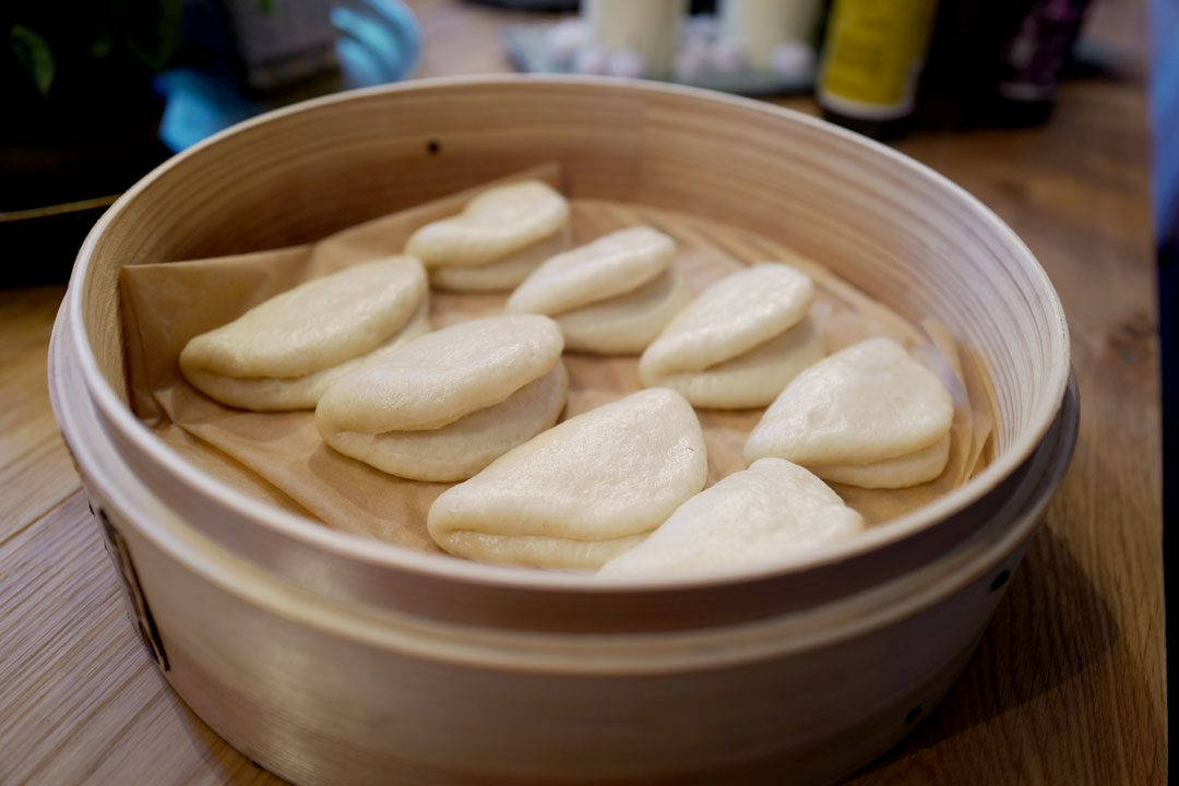 Ferdige steam buns.